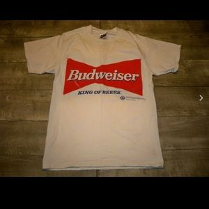 Vtg Tultex Bill Elliot Budweiser Men's T-shirt Med